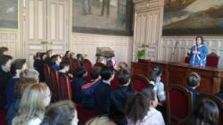Salle des mariages. Mme Ceyrac conseillère de Paris déléguée auprès du Maire du xvème